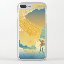 Golden Staircase Clear iPhone Case