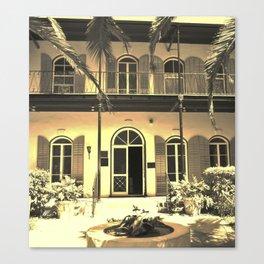 Hemingway House Vintage Canvas Print