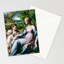 Parmigianino Virgin and Child with St. John the Baptist and Mary Magdalene Stationery Cards