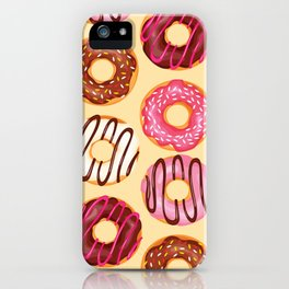 Crazy donuts iPhone Case