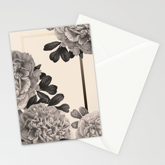 Flowers on a winter day Stationery Cards