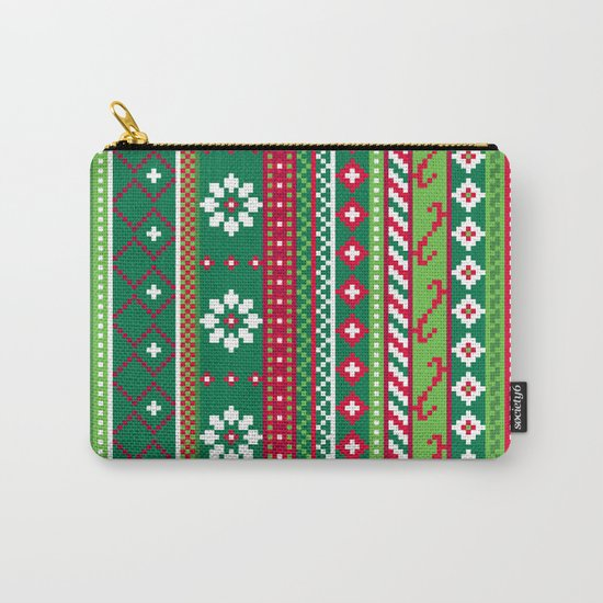 Fair Isle Christmas Pattern Carry-All Pouch