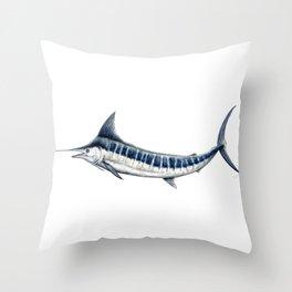 Blue Marlin (Makaira nigricans) Throw Pillow