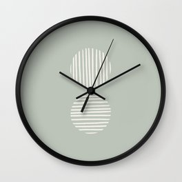 Inverted Circle Lines Wall Clock