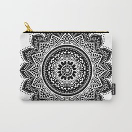 black white mandala Carry-All Pouch