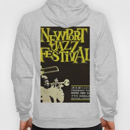 1960 Newport Jazz Festival Vintage Advertisement Poster Newport, Rhode Island Hoody