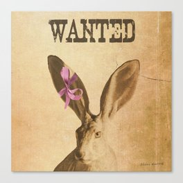 WANTED RABBIT Canvas Print