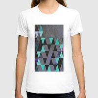 cracked T-shirts featuring Cracked Metal by Bakmann Art