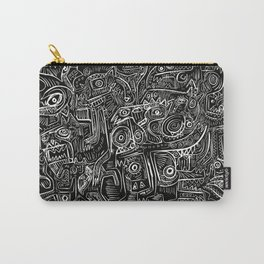 Street Graffiti Black and White Primitive Art Carry-All Pouch