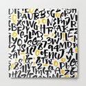 numbers and letters, black and yellow by huntleigh