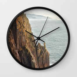 Lower Neahkahnie Mountain Ocean Spires, Oregon Coast Landscape Wall Clock