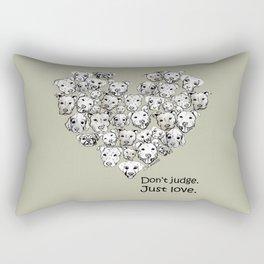 Just Love. (black text) Rectangular Pillow