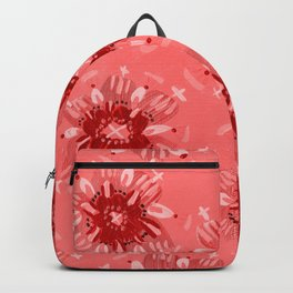 Red Christie Rose Backpack