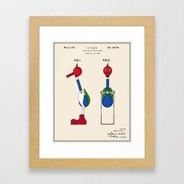 Drinking Bird Patent Framed Art Print
