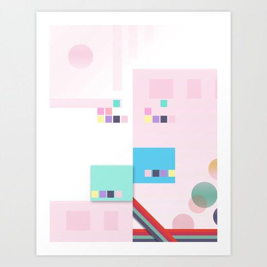 Skyline '46 Art Print