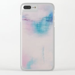 Dark Reflections Resound in Space Clear iPhone Case