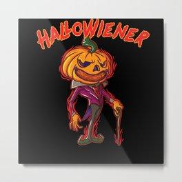 HalloWiener | Halloween | Vienna Sausage Pumpkin Metal Print