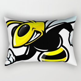 Muscular bee Rectangular Pillow