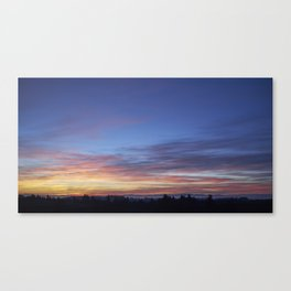 Willamette Valley Sunset Canvas Print