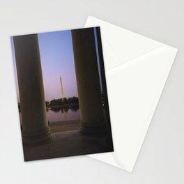 Washington DC at twilight Stationery Cards