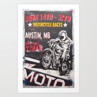 austin Art Prints featuring Austin by desirae samantha