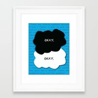 fault in our stars Framed Art Prints featuring the fault in our stars by lizbee