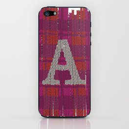 Winter clothes. Letter A III. iPhone Skin