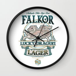 Lucky Dragon Lager Wall Clock