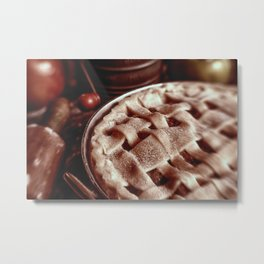 Apple Pie Reday for the Oven Metal Print