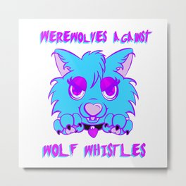 Werewolves against wolf whistles Metal Print