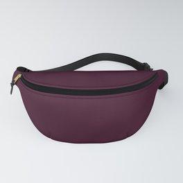 Rich Purple-Toned Maroon Red - Solid Plain Block Colors - Fall / Autumn / Autumnal Colours / Deep / Minimalist / Royal / Jewel Tones Fanny Pack