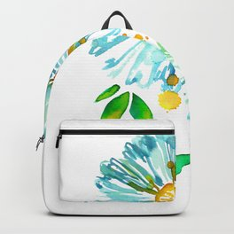 Lakeside Watercolour Blue Daisies Backpack