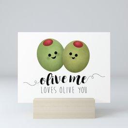 Olive Me Loves Olive You Mini Art Print