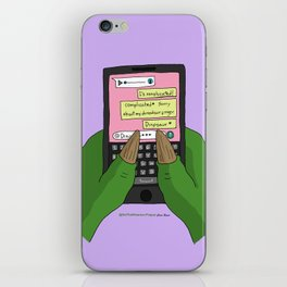 Dinosaur finger iPhone Skin