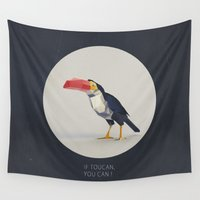 toucan Wall Tapestries featuring TOUCAN by Dinosaur Design