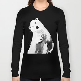 Unique Black and White Polar Bear Design Long Sleeve T-shirt