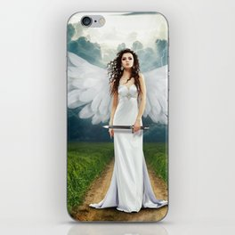Angel landscape iPhone Skin