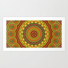 Trippy mandala  Art Print
