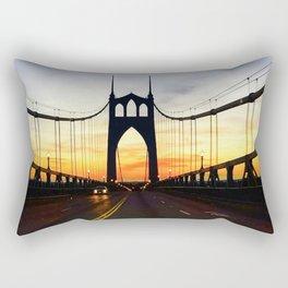 """St. John's Bridge Barry"" Rectangular Pillow"