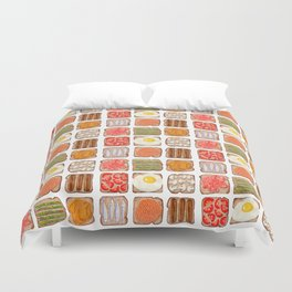 Breakfast Toast Duvet Cover