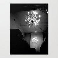chandelier Canvas Prints featuring Chandelier by Kameron Elisabeth
