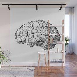 Human brain drawing Wall Mural