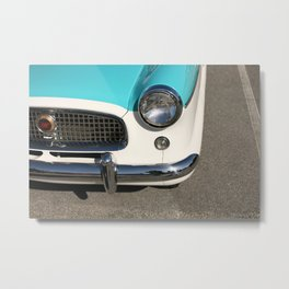 Vintage Car Headlight Metal Print
