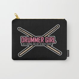 Drummer Girl -Percussionist Musical Instrument Shirt Carry-All Pouch