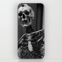 skeleton iPhone & iPod Skins featuring Skeleton by Evan Morris Cohen