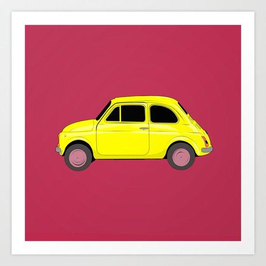 A tiny Fiat Art Print