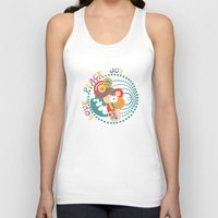 70s Tank Tops featuring 70s Circle  by Louise Machado