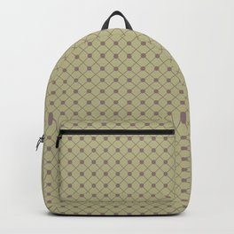 Grape Vine Purple on Earthy Green Parable to 2020 Color of the Year Back to Nature Polka Dot Grid Backpack
