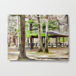 Pavilion at Cheaha state park Metal Print