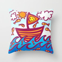 LUCKY FISHING DAY Throw Pillow